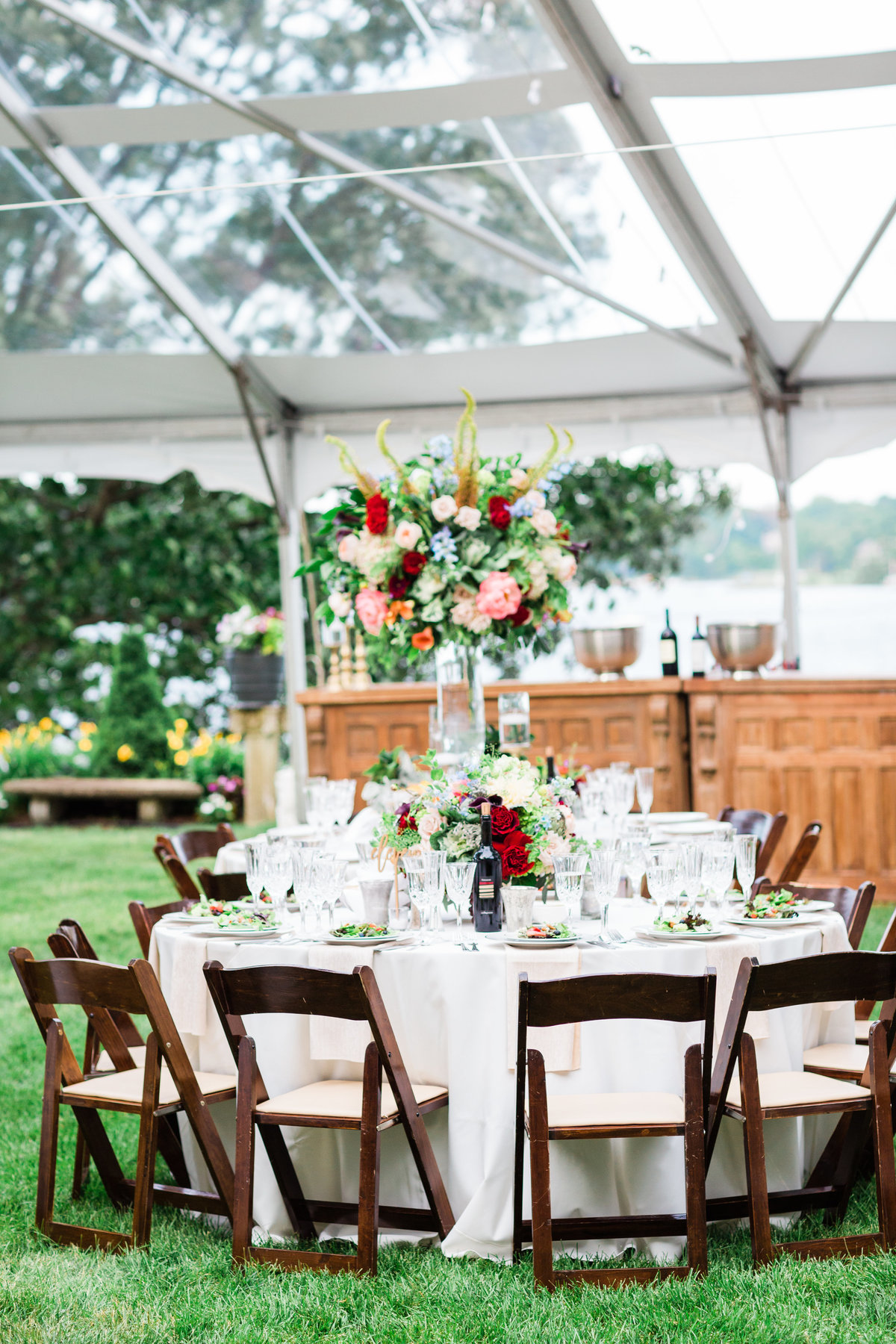 Fine art wedding reception
