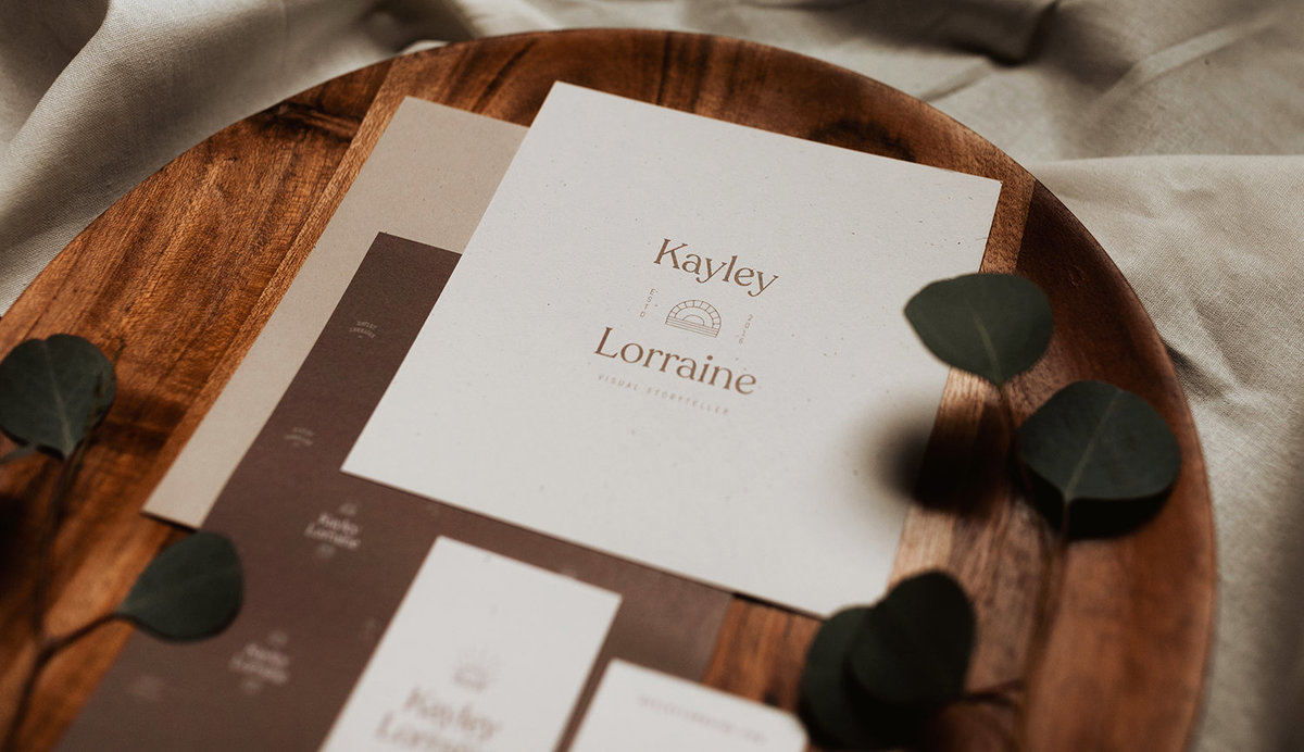 Kayley Lorraine Brand Collateral, Crafted by Rhema Design Co.