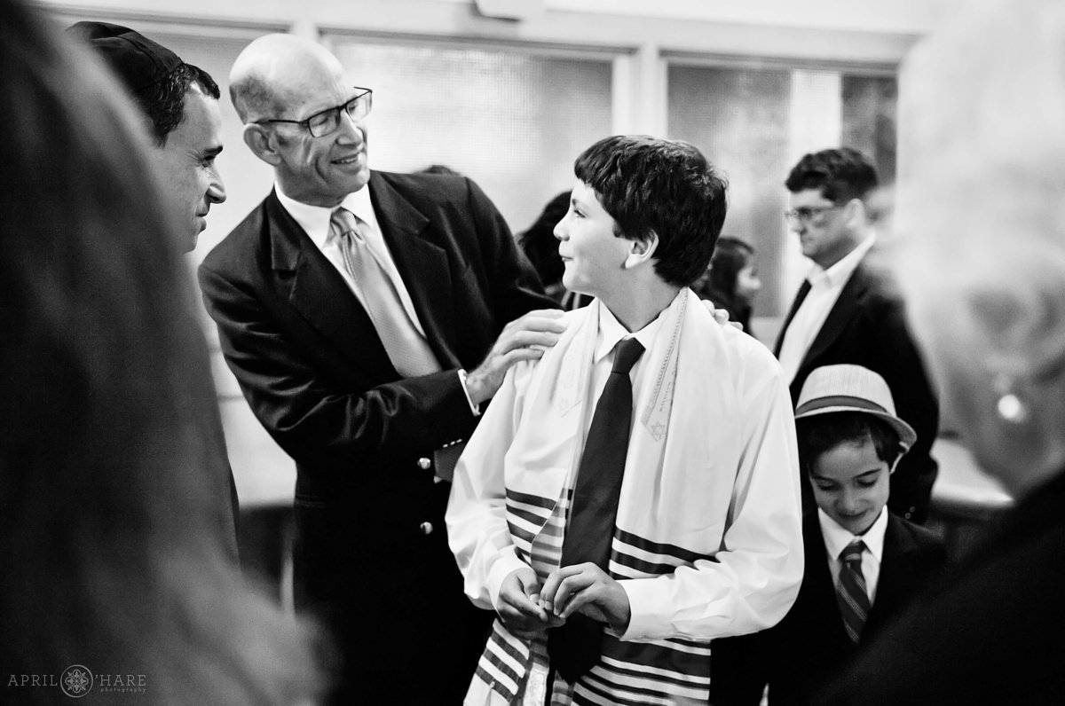 Bar Mitzvah Photography in Denver Colorado at Temple Micah