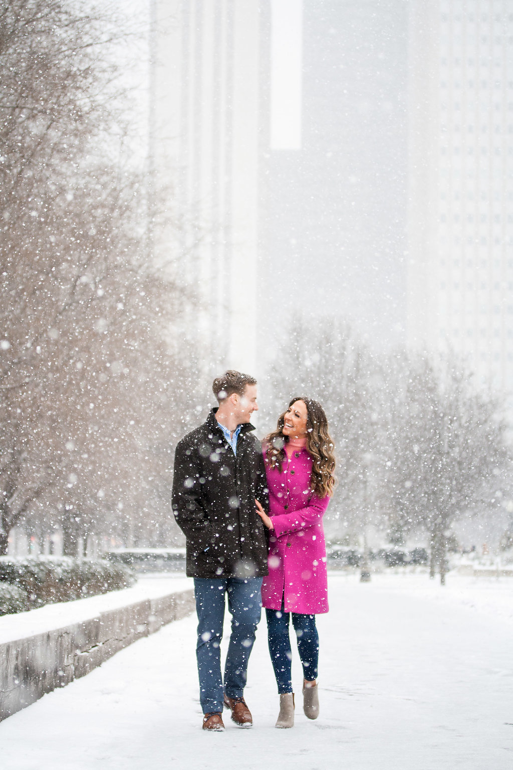 Millennium Park Chicago Illinois Winter Engagement Photographer Taylor Ingles 14