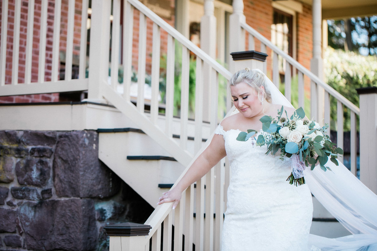 brides first look - historic acres wedding