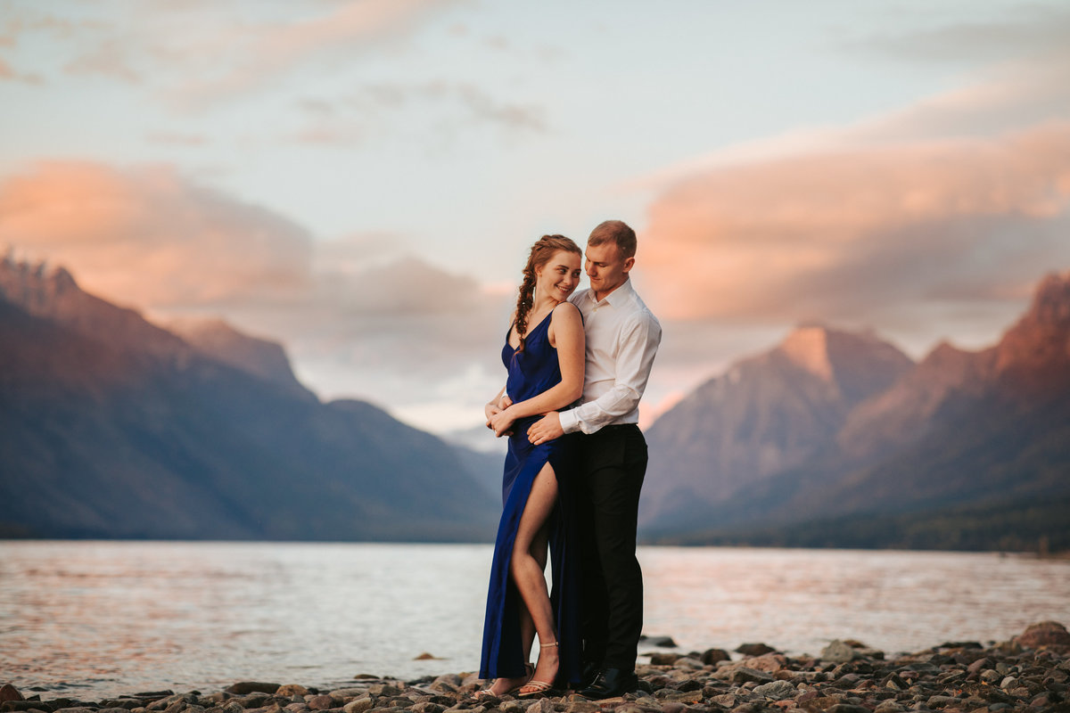 Lake McDonald Engagement Photography