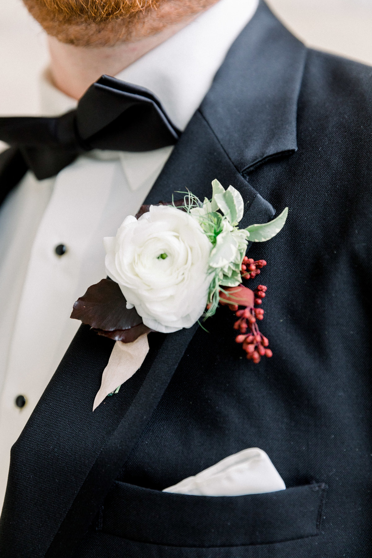 groom Winterthur wedding florist Delaware