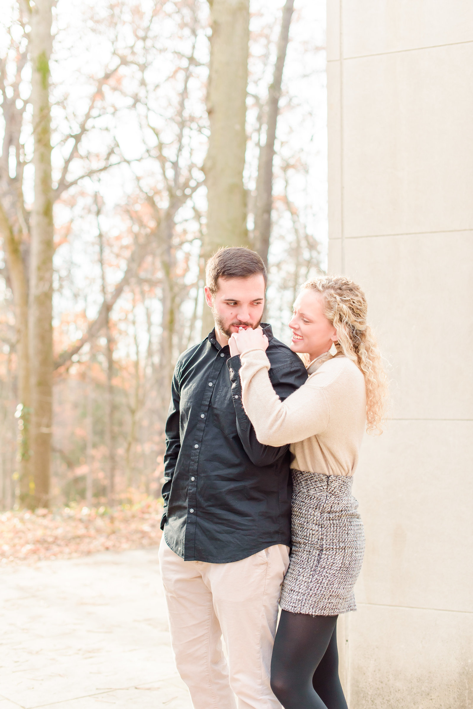 Fall Engagement Session at Holcomb Gardens