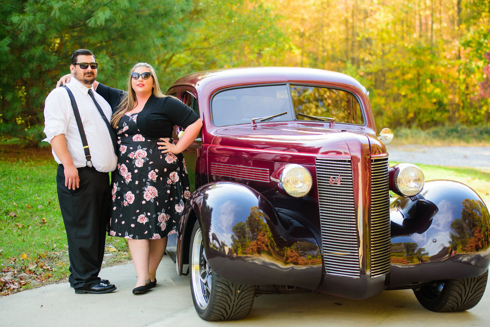Retro_Pinup_Car_engagement_session_Nj001