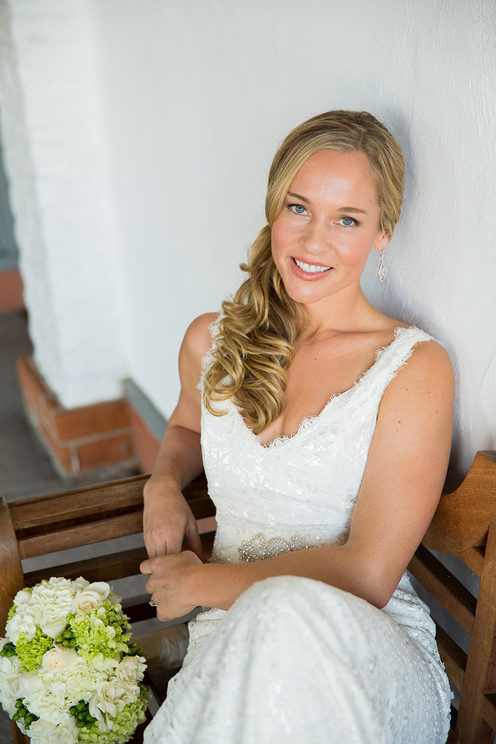 bride smiling in picture