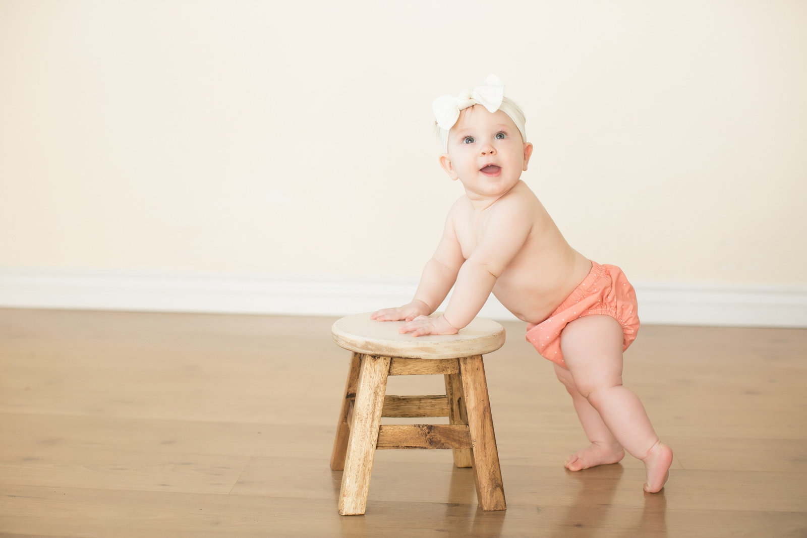 baby girl white headband photography