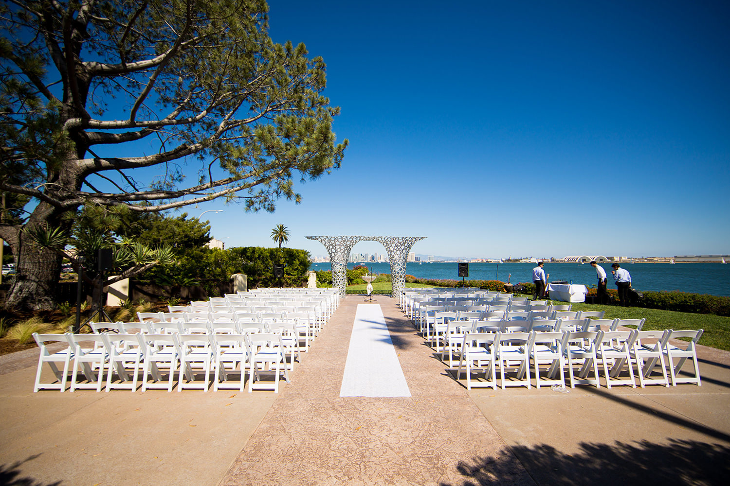 ceremony space at tom hams lighthouse