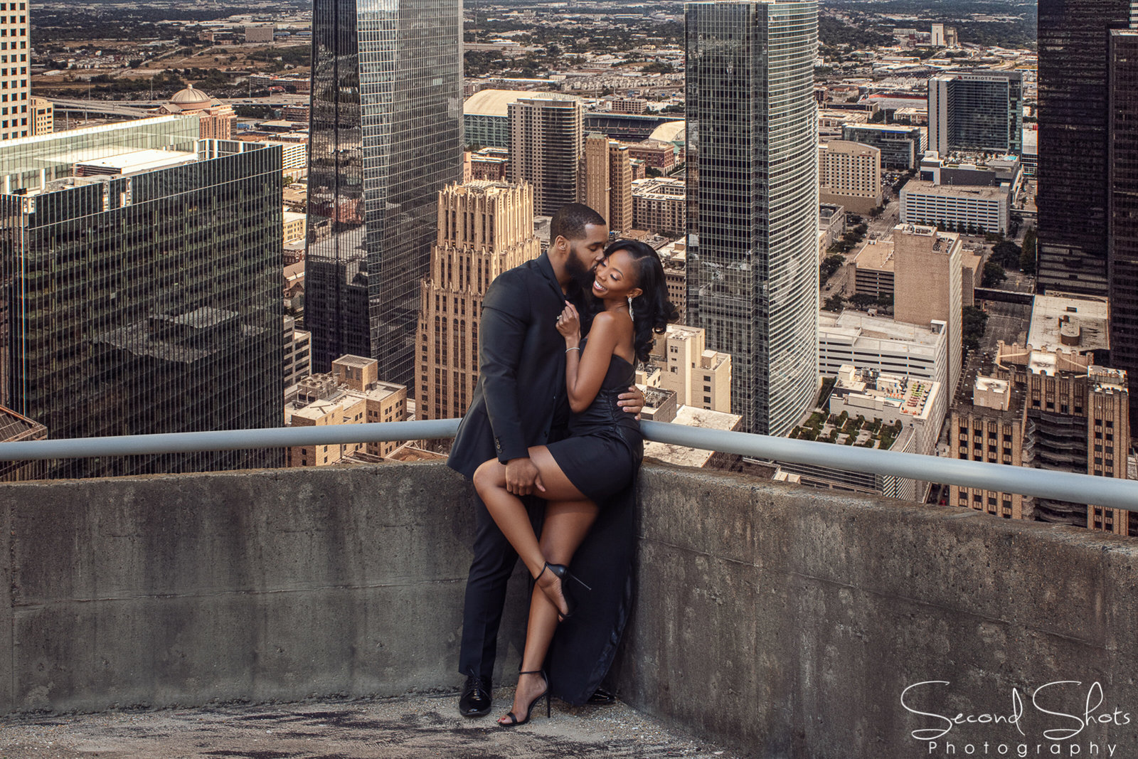 110 Downtown Houston Engagement Photographer
