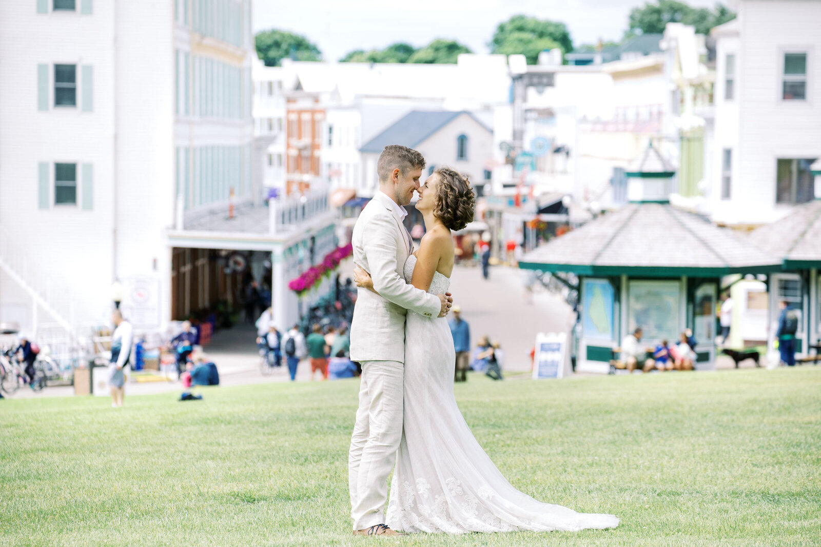 Mackinac Island Wedding on Main Street