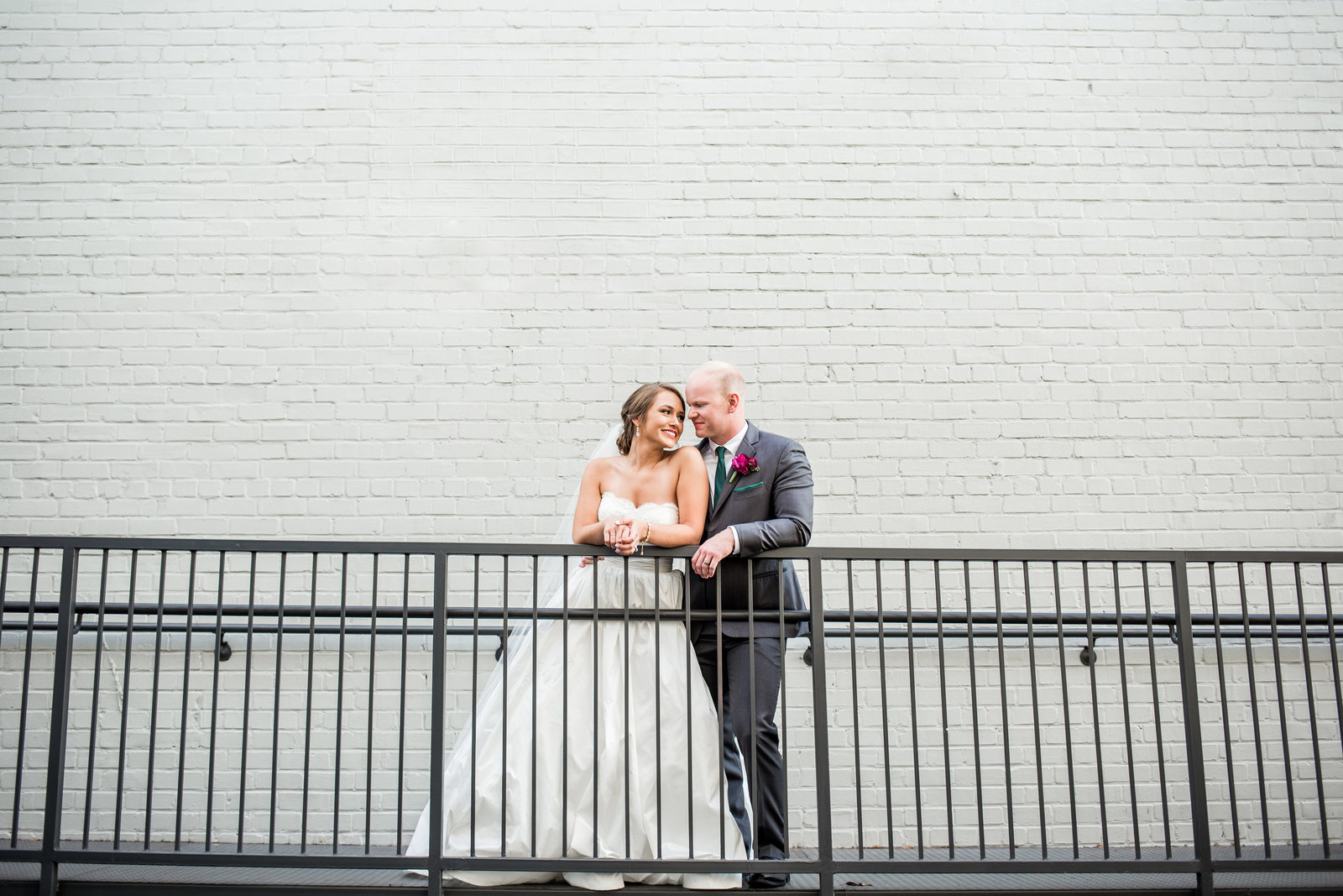 Contemporary Wedding Couple Portrait