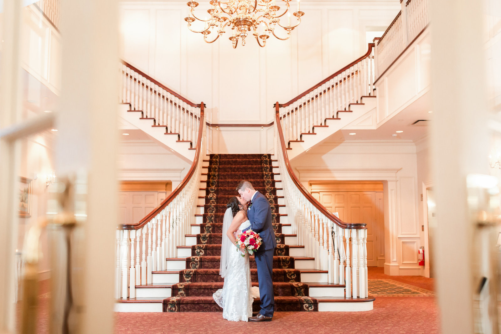 Bride and groom at Meadow Wood Manor