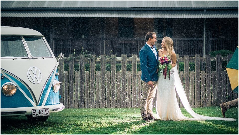 Rainy Day wedding Photography Sunshine Coast