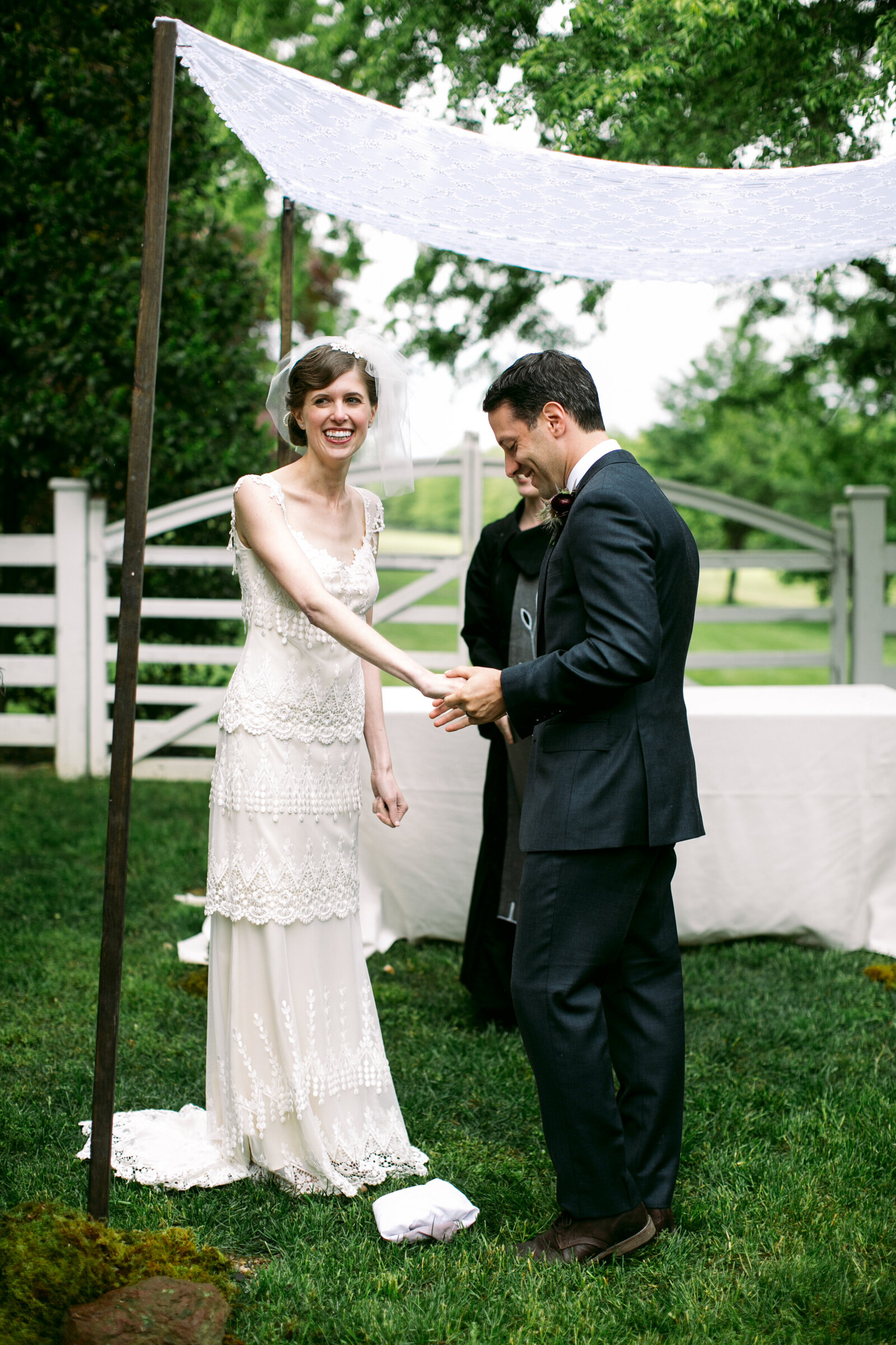 jewish outdoor wedding ceremony