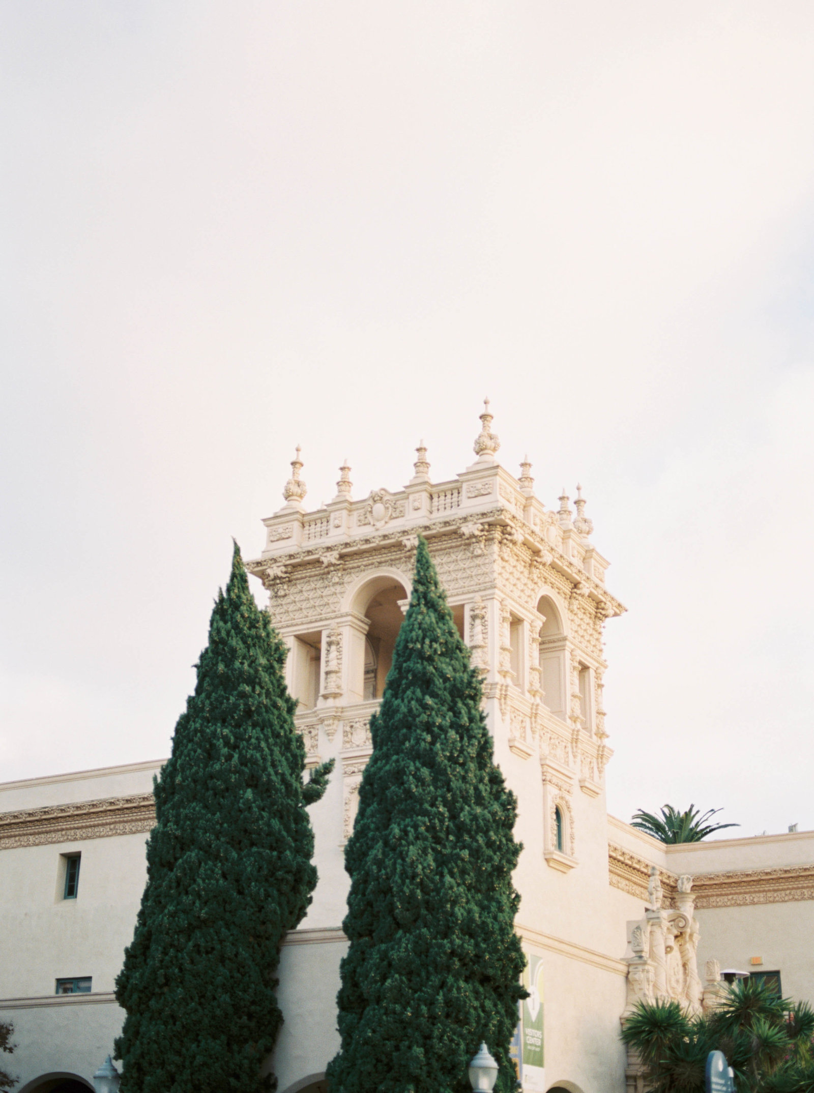 Fine art elegant romantic engagement session with stylish gold and black dress at Balboa Park in San Diego by Liz Andolina Photography