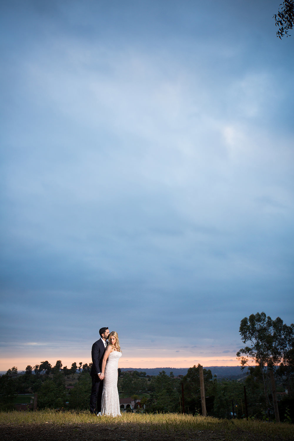stunning night image with bride and groom