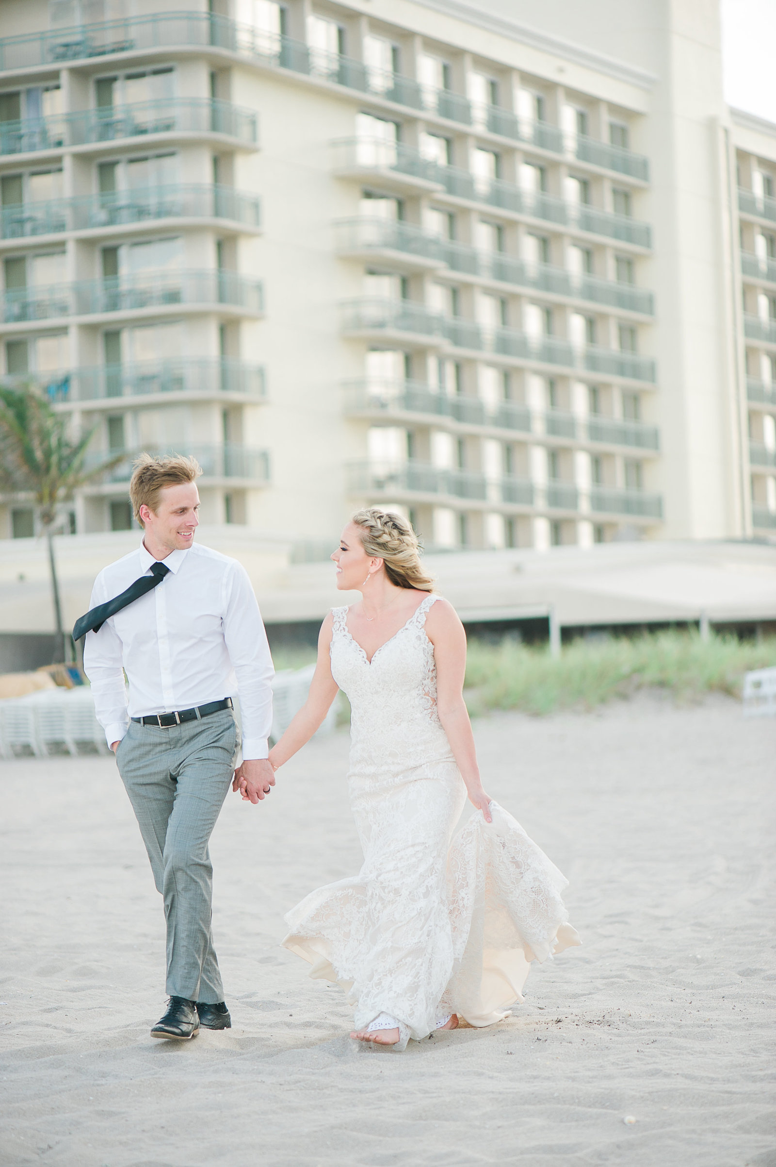 Beachy Wedding - Hilton Singer Island Wedding - Palm Beach Wedding Photography by Palm Beach Photography, Inc.