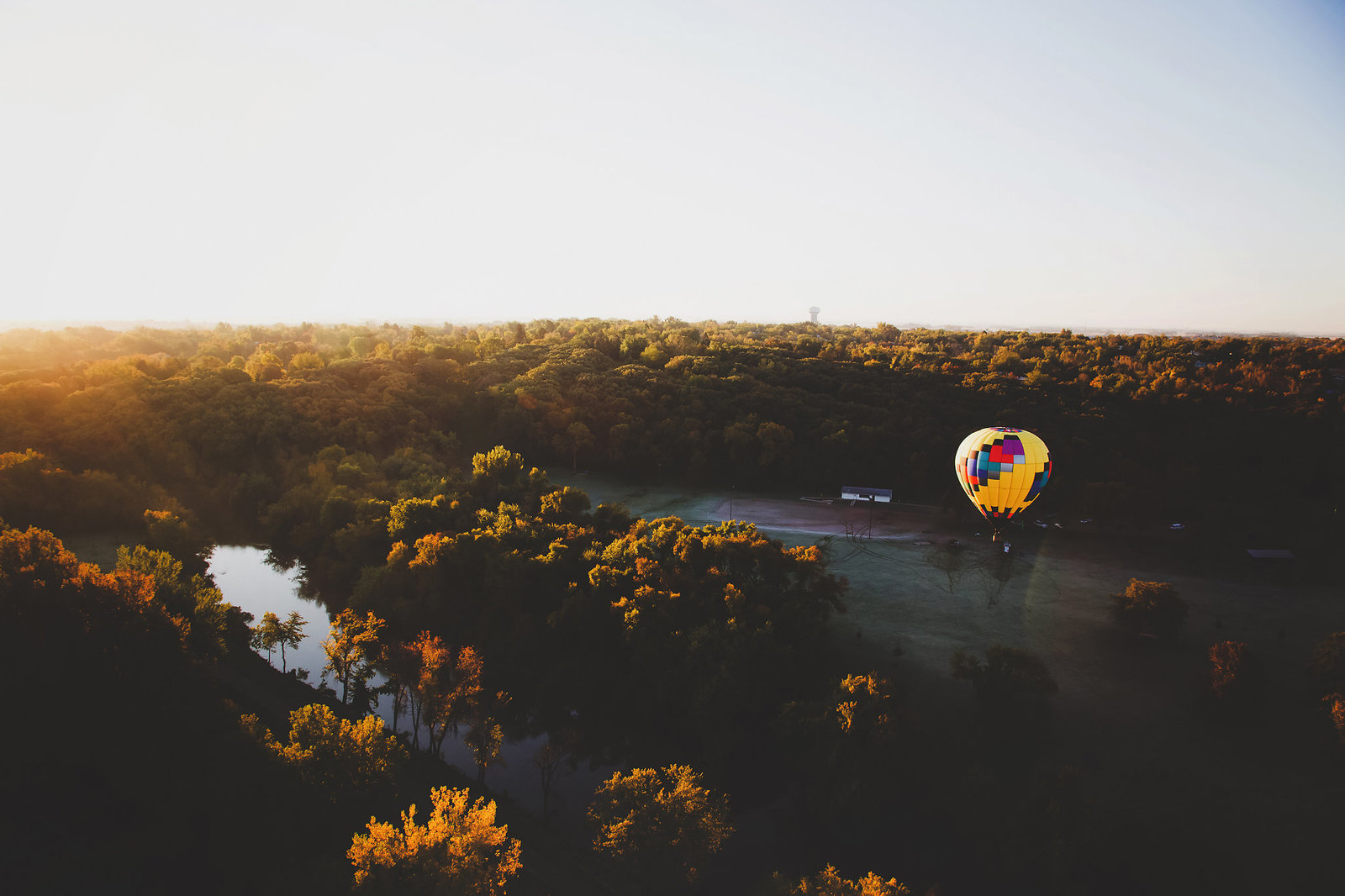 South Dakota sunrise from a hot air balloon