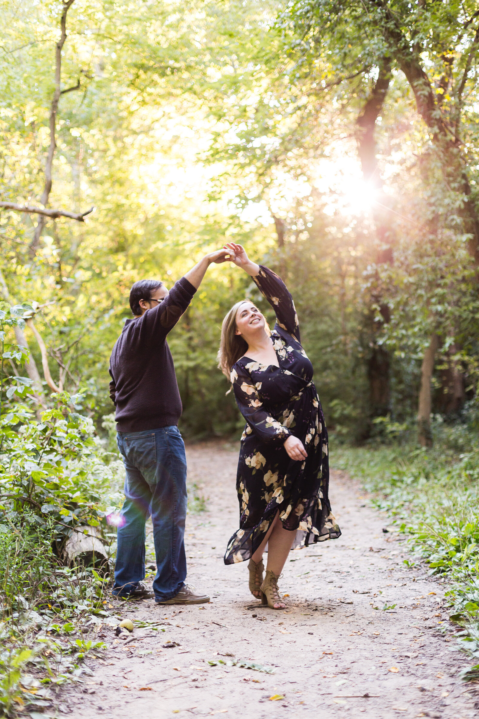 engaged couple dancing candid photography ohio