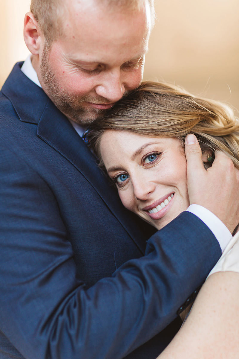 san francisco city hall wedding photographer image of close up of bride's blue eyes