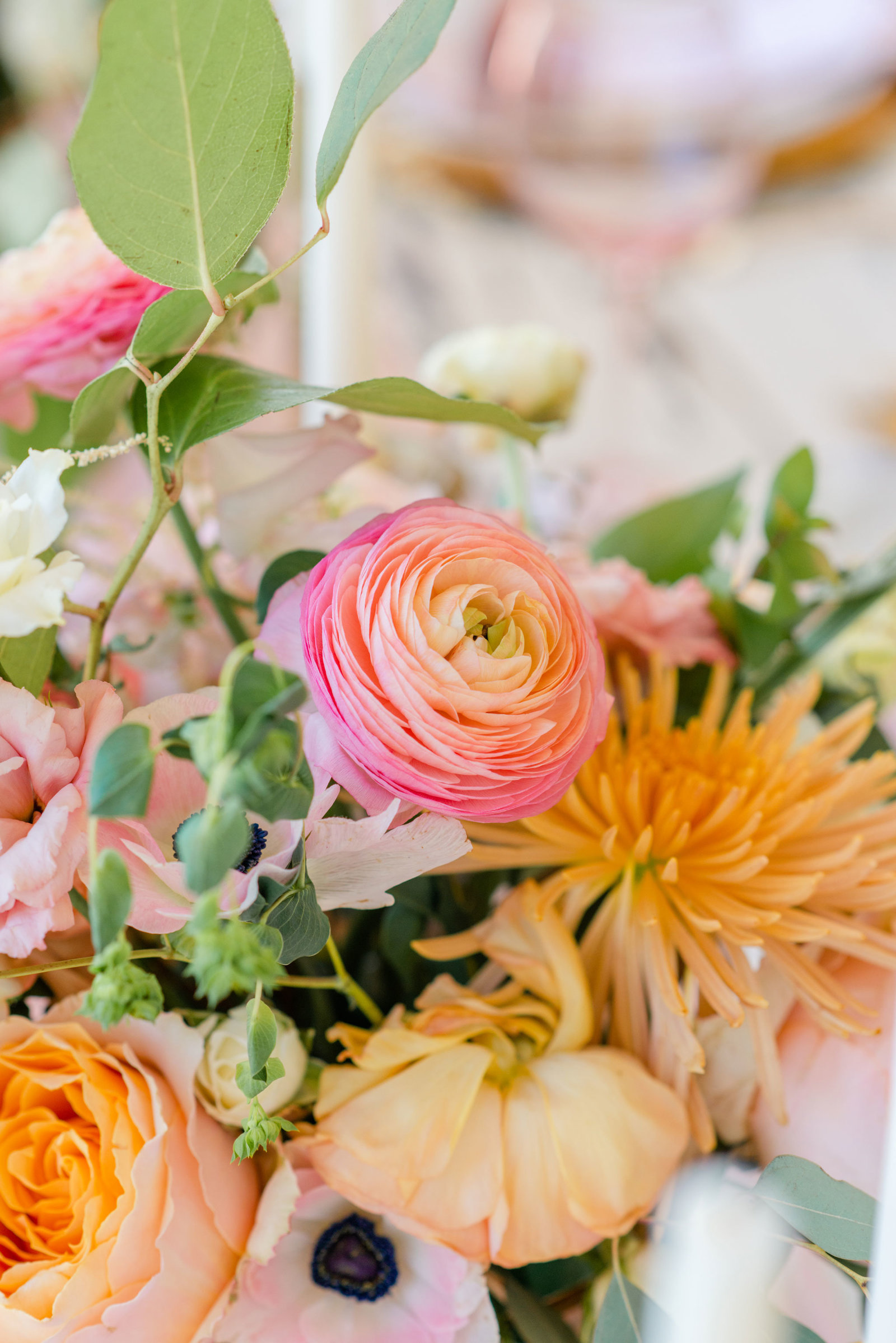 Pink and orange floral bouquet