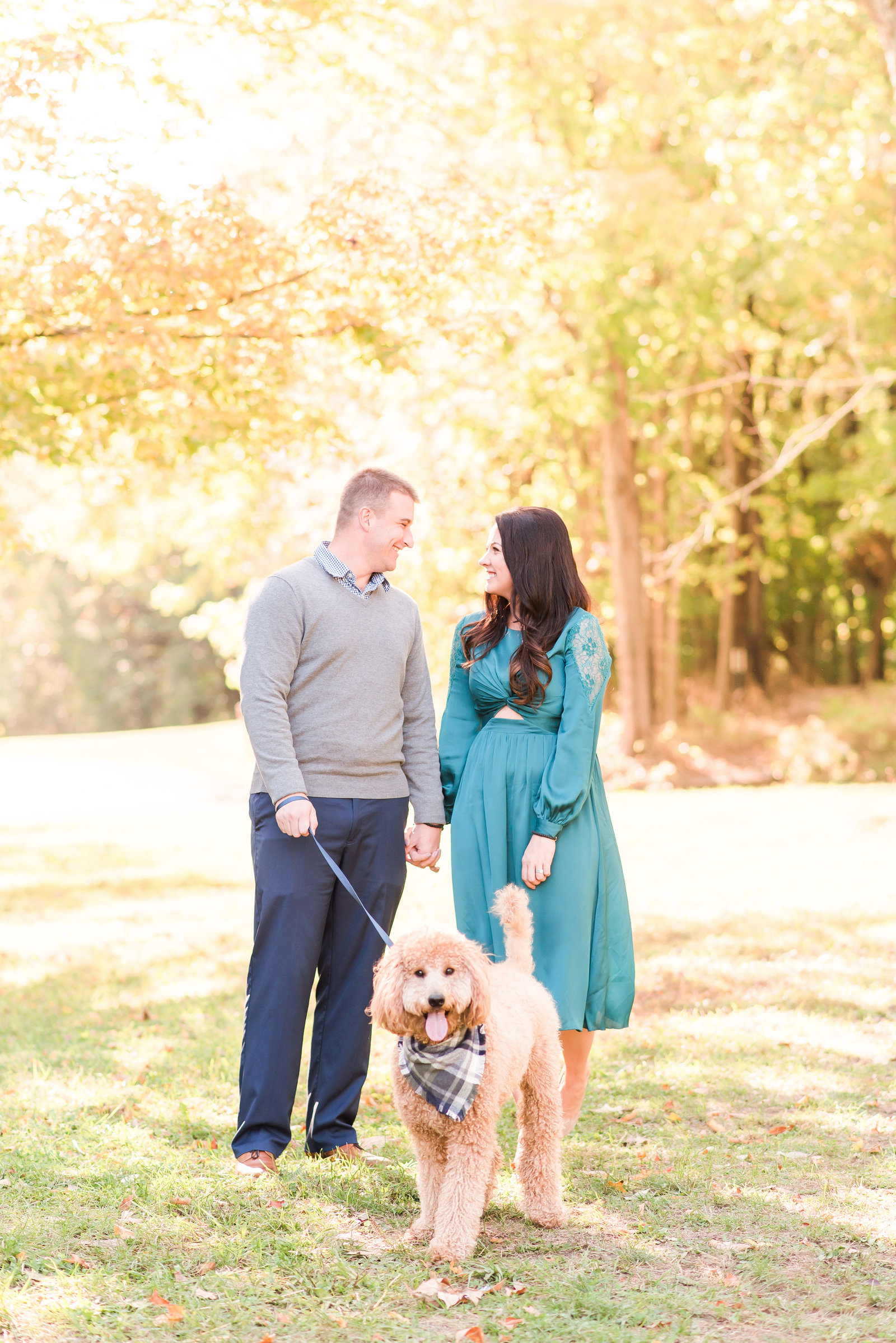Engagement Photos with Dog at Eagle Creek Park