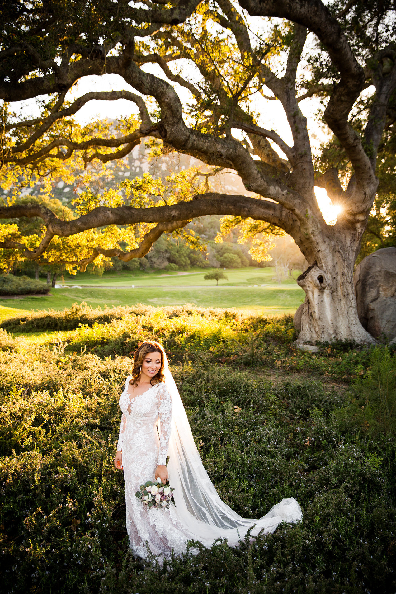 Mt Woodson wedding photos rustic field gorgeous light
