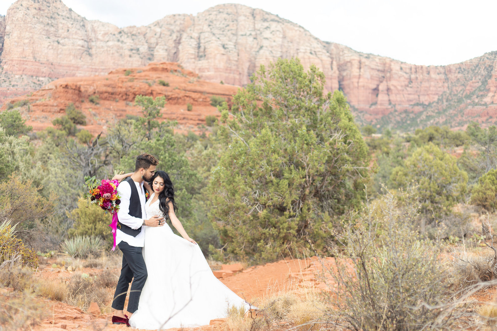 Bridal Portrait at Red Rock for Spanish Styled Shoot