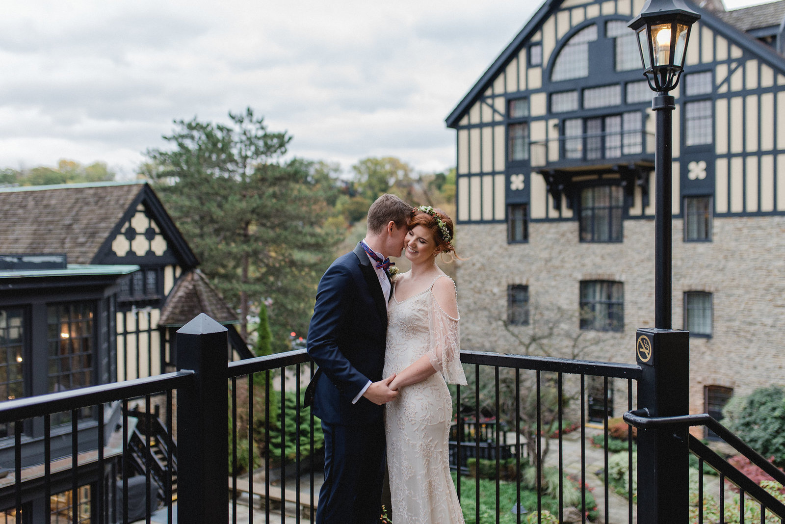 Romantic Bride and Groom Old Mills Toronto Wedding Boho Chic | Jacqueline James Photography