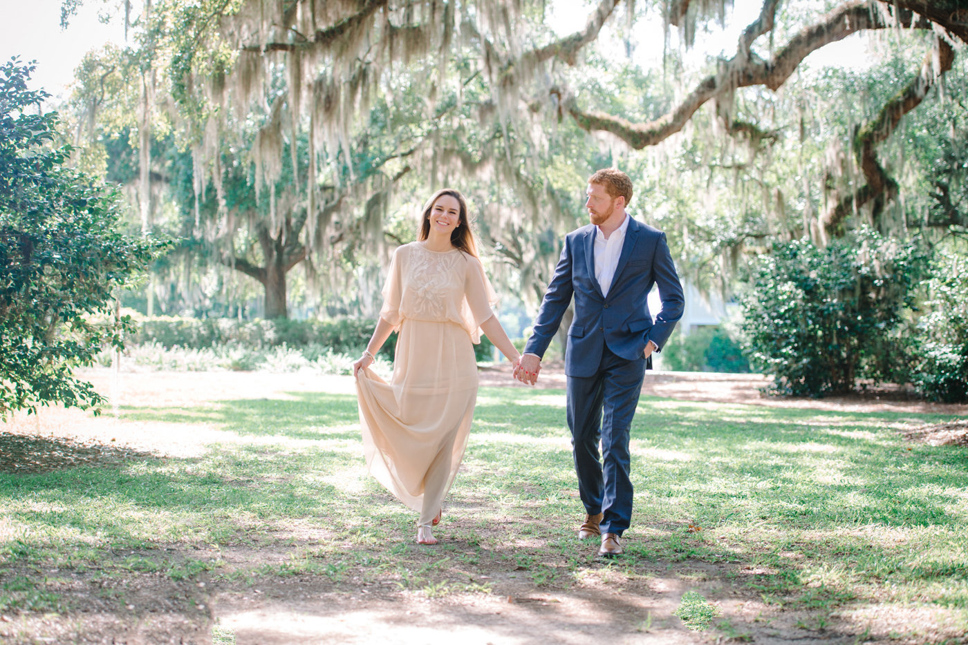Engagement photos at Wachesaw Plantation in Murrells Inlet, SC
