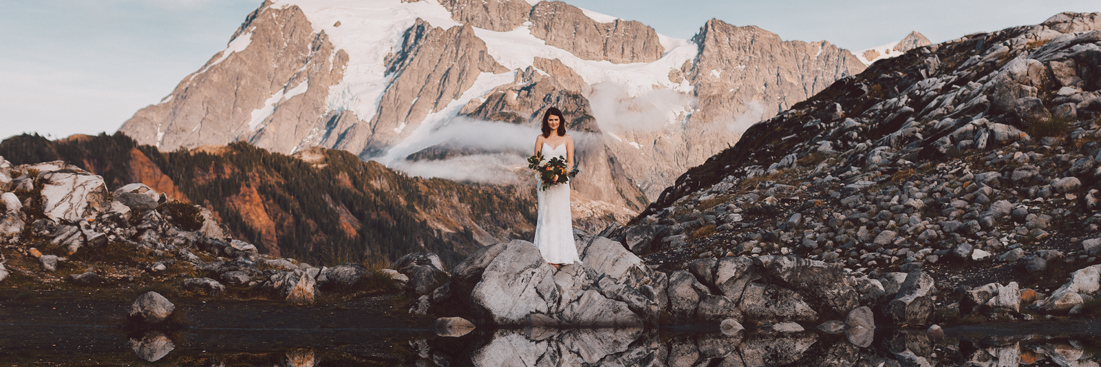 Mount Baker Aritst Point wedding bridal session by Kyle Goldie