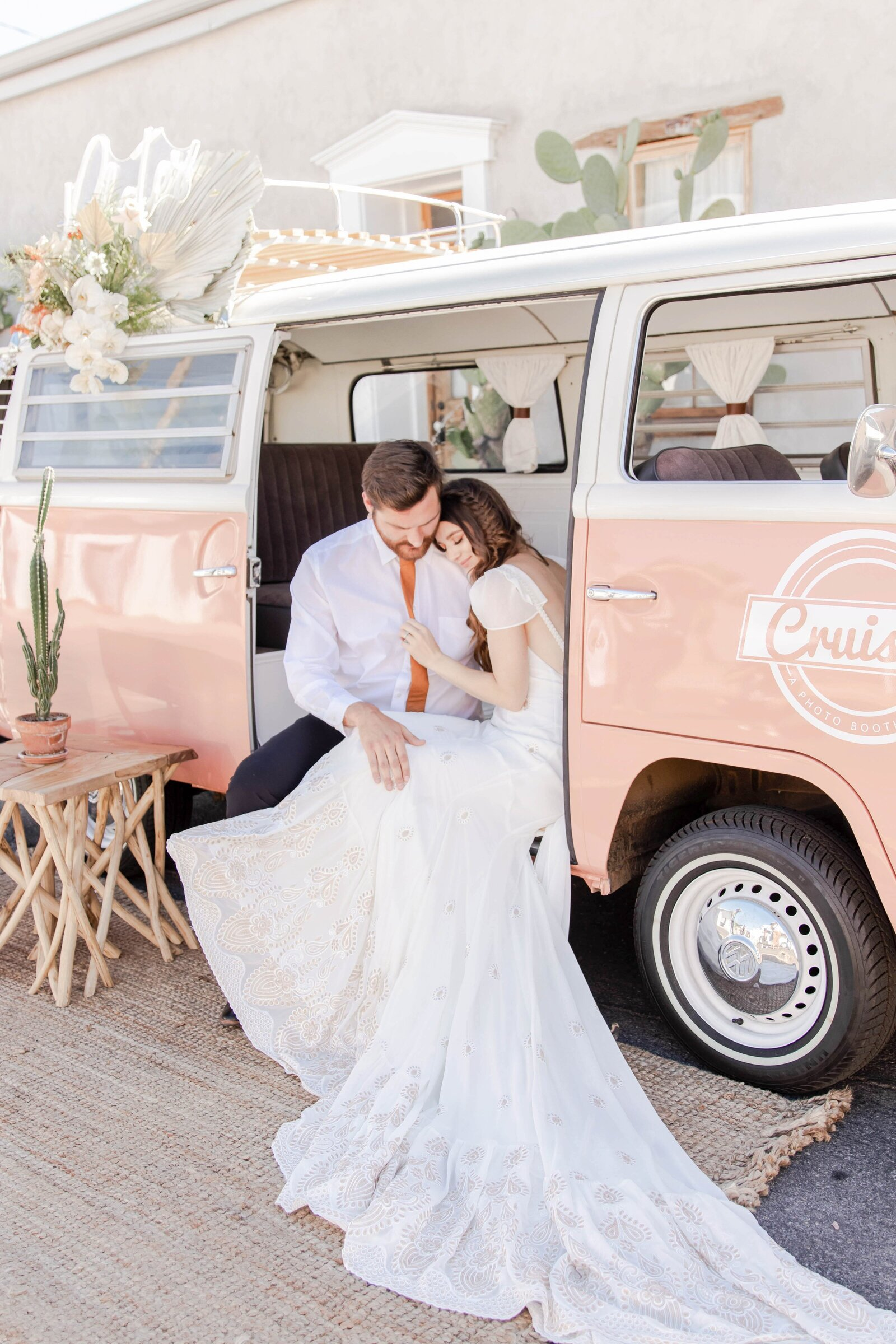 bride-and-groom-in-volkswagon-bus