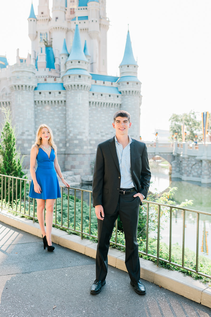 Orlando Engagement Photographer | Disney Magic Kingdom Engagement Session | Enagement at Disney-26