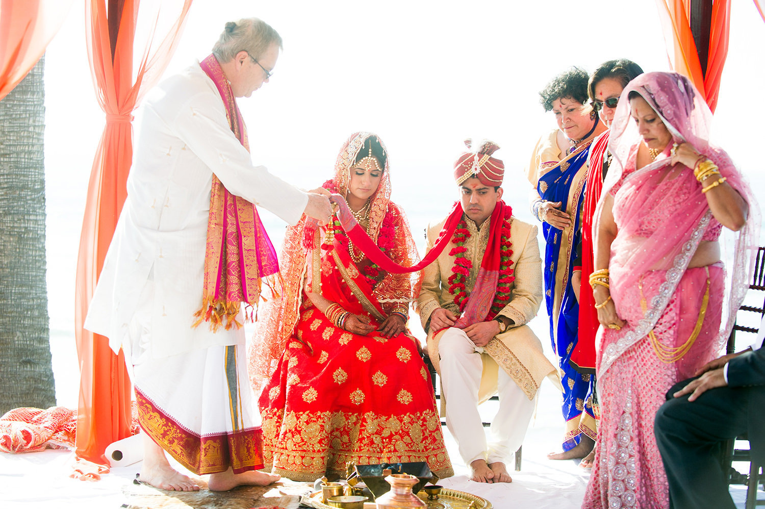 indian ceremony with bright colors