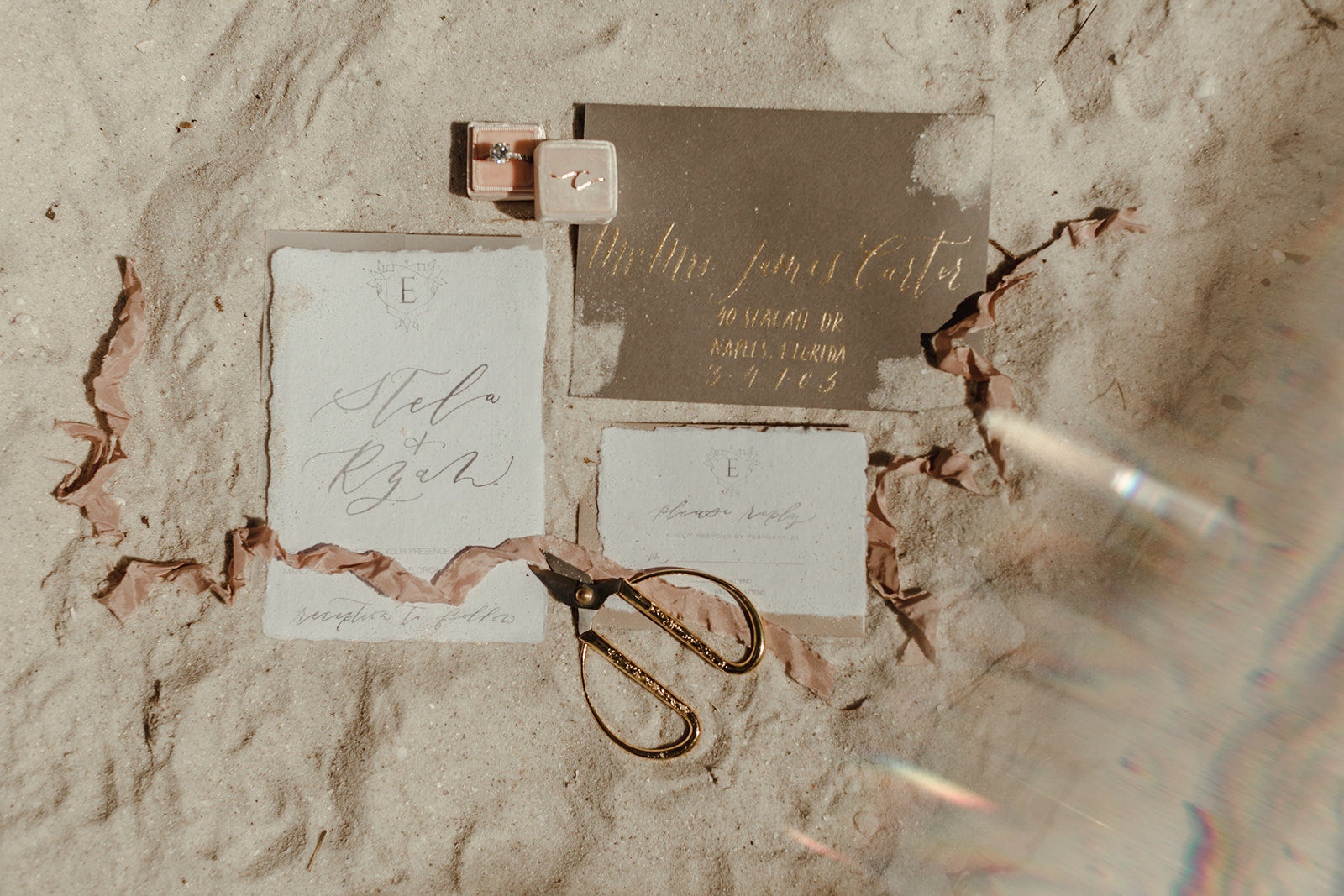 Celestial wedding inspiration_ beach elopement style-1