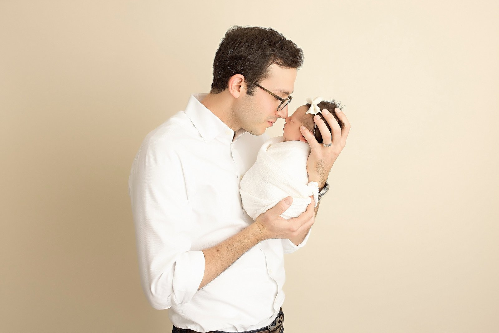 Newborn and father photo