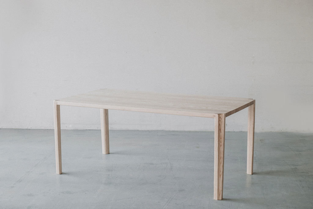 scandinavian table from ash wood