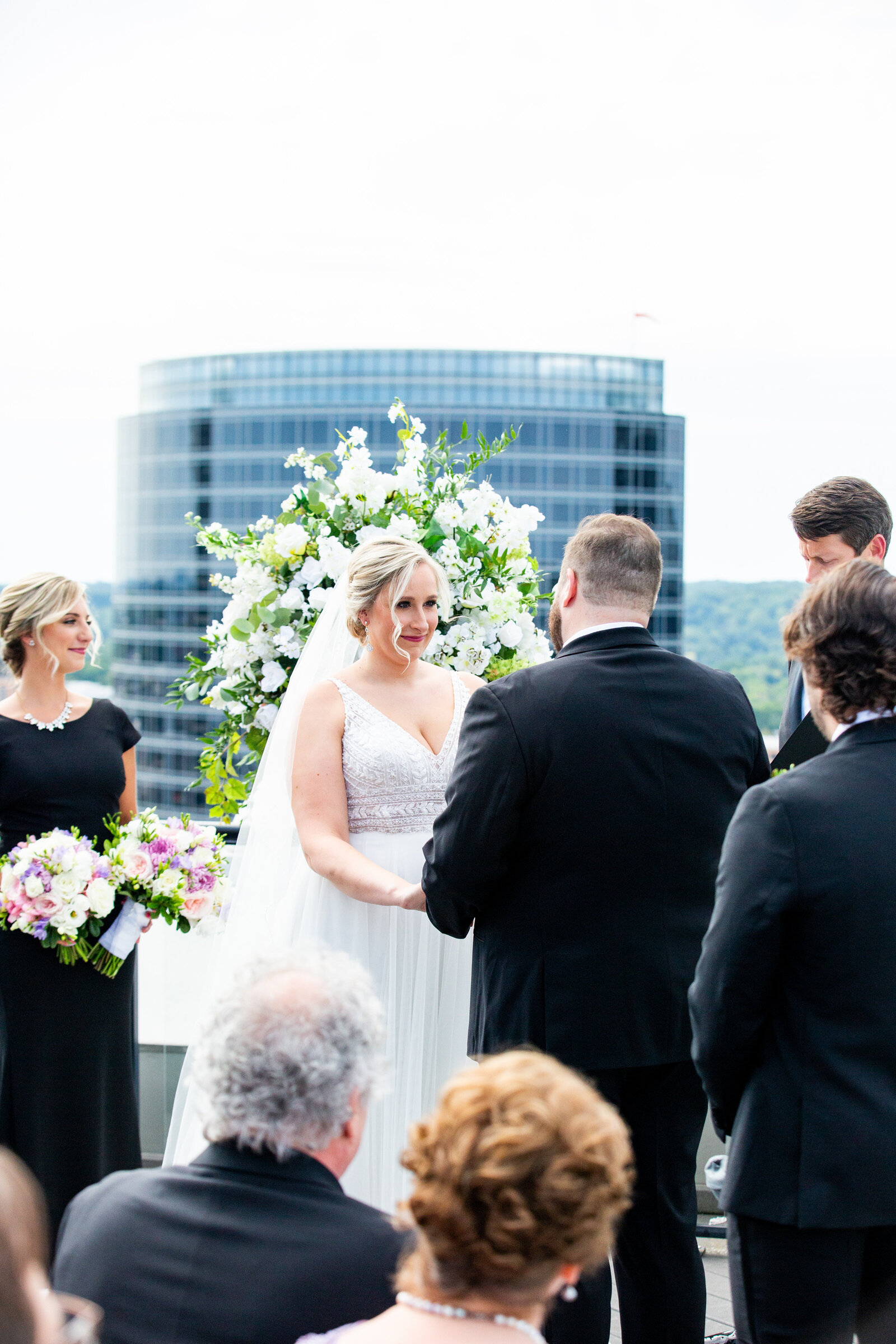 Grand-Rapids-Rooftop-Wedding-bride-groom-ceremony
