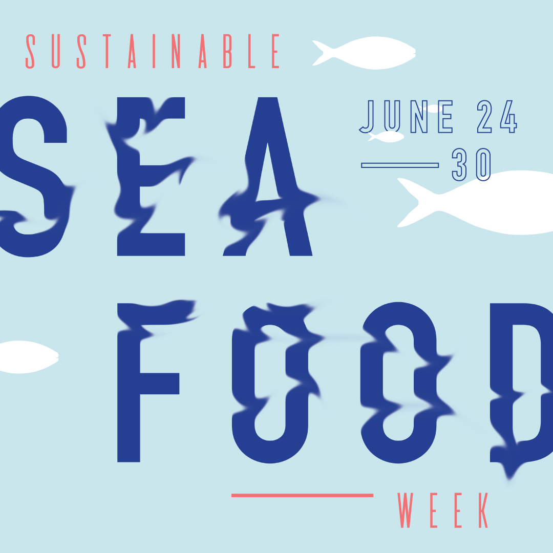 Artwork and typography for Sustainable Seafood Week 2018 by Christie Evenson