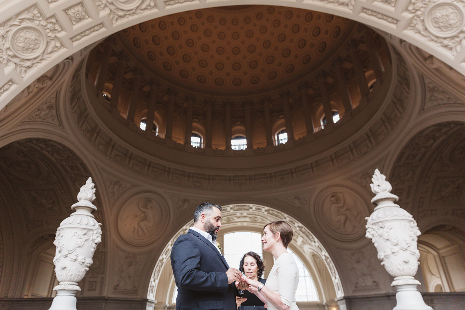 couple getting married on 4th Floor of San Francisco City Hall