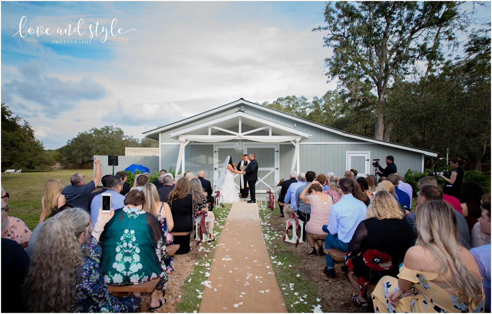 Wedding Ceremony at The Barn at Chapel Creek, Sarasota Florida