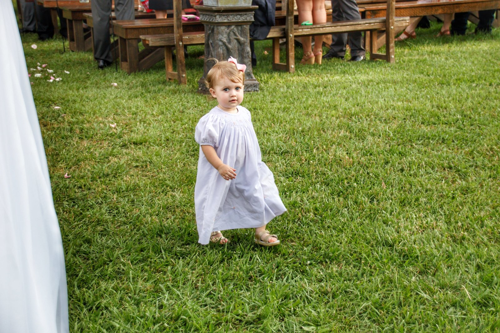 Check out this adorable little guest at the Sweet Meadow Farm wedding in GA.