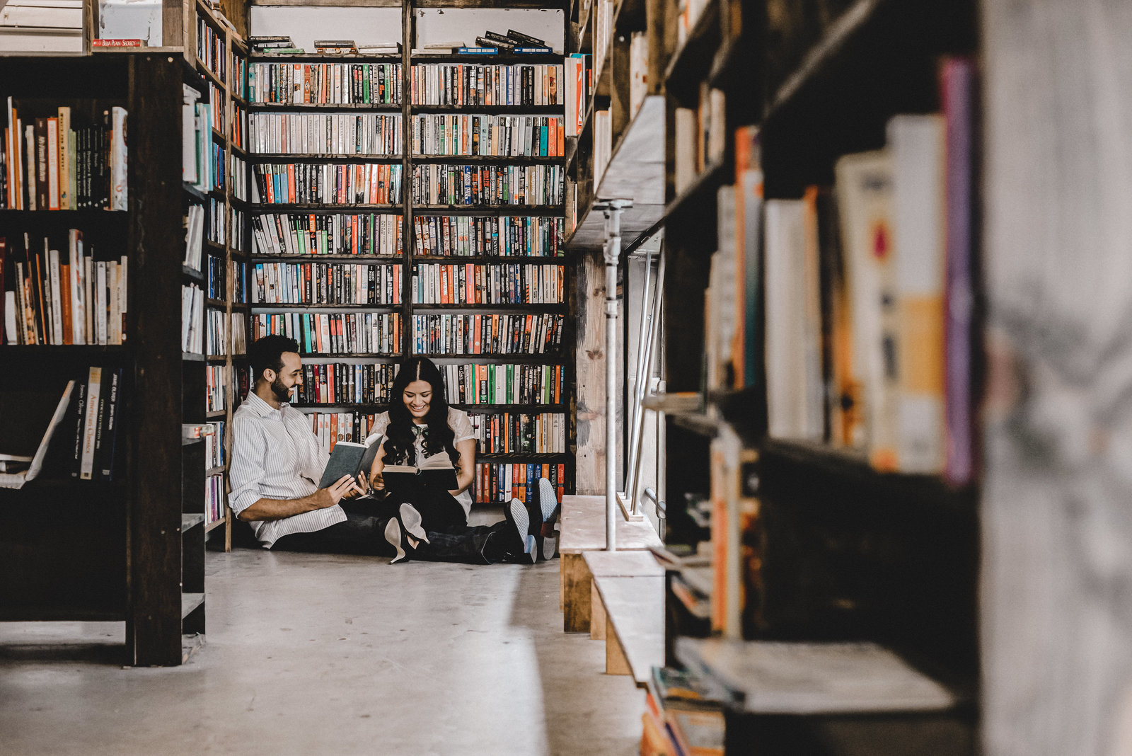 The Last Book Store Engagement Session