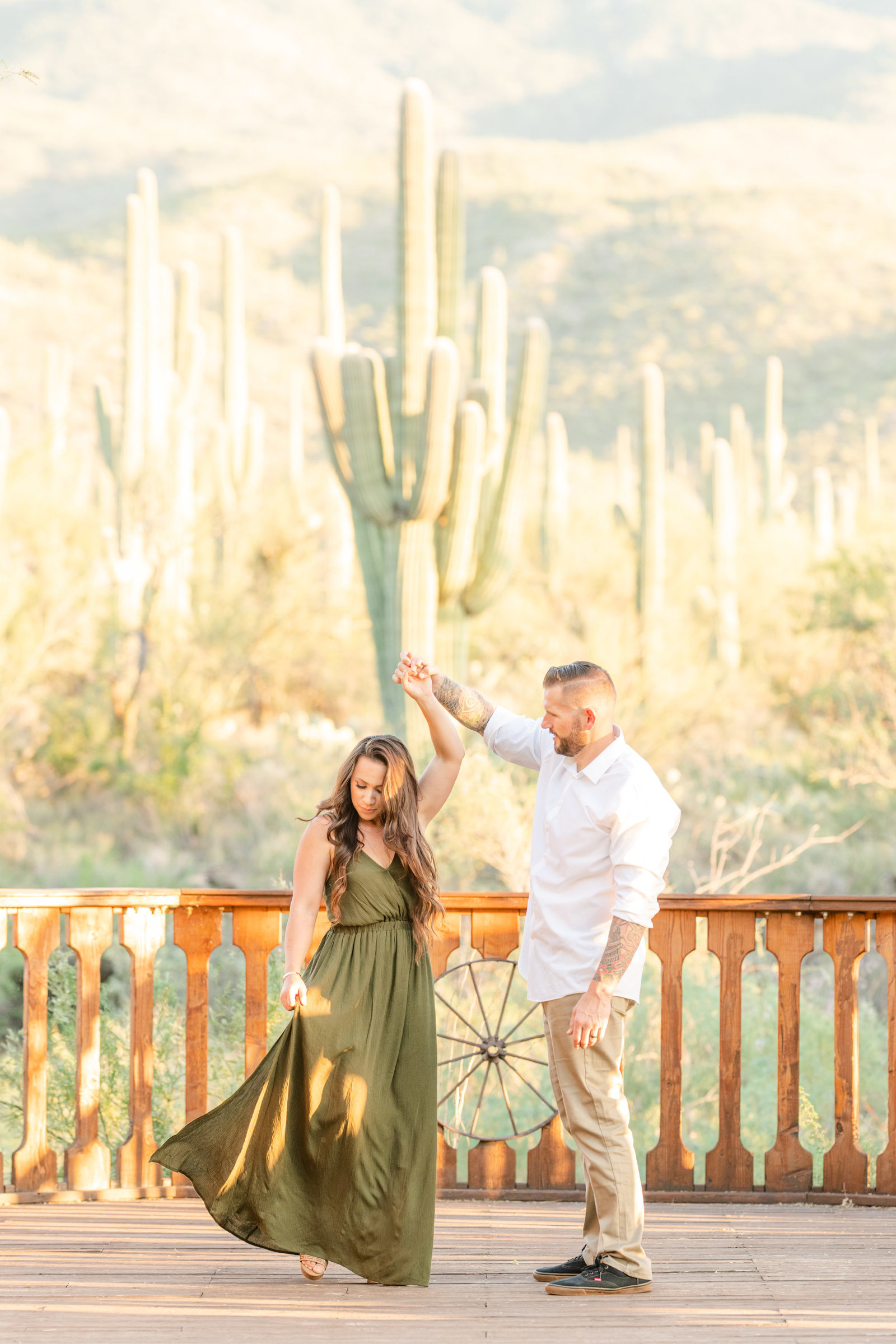 couple dancing on stage at Tanque Verde Guest Ranch