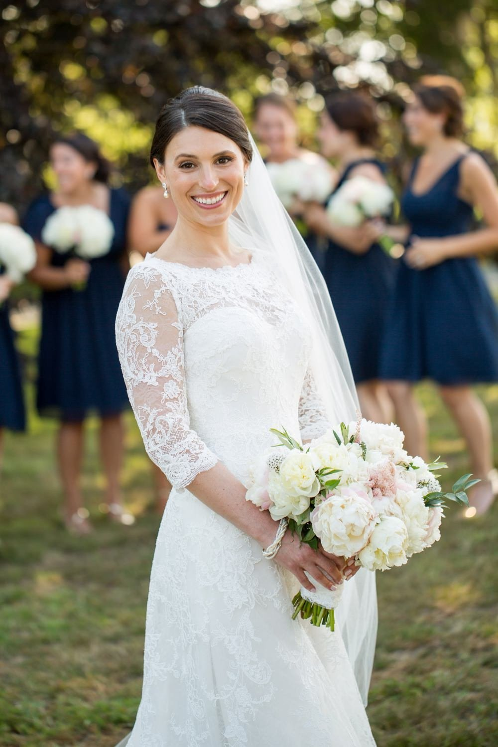Classic navy and white wedding at The Eisenhower House in Newport, RI