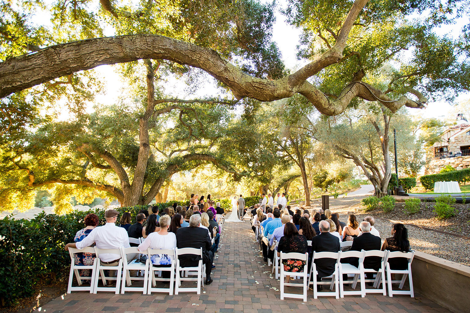 ceremony space with guests