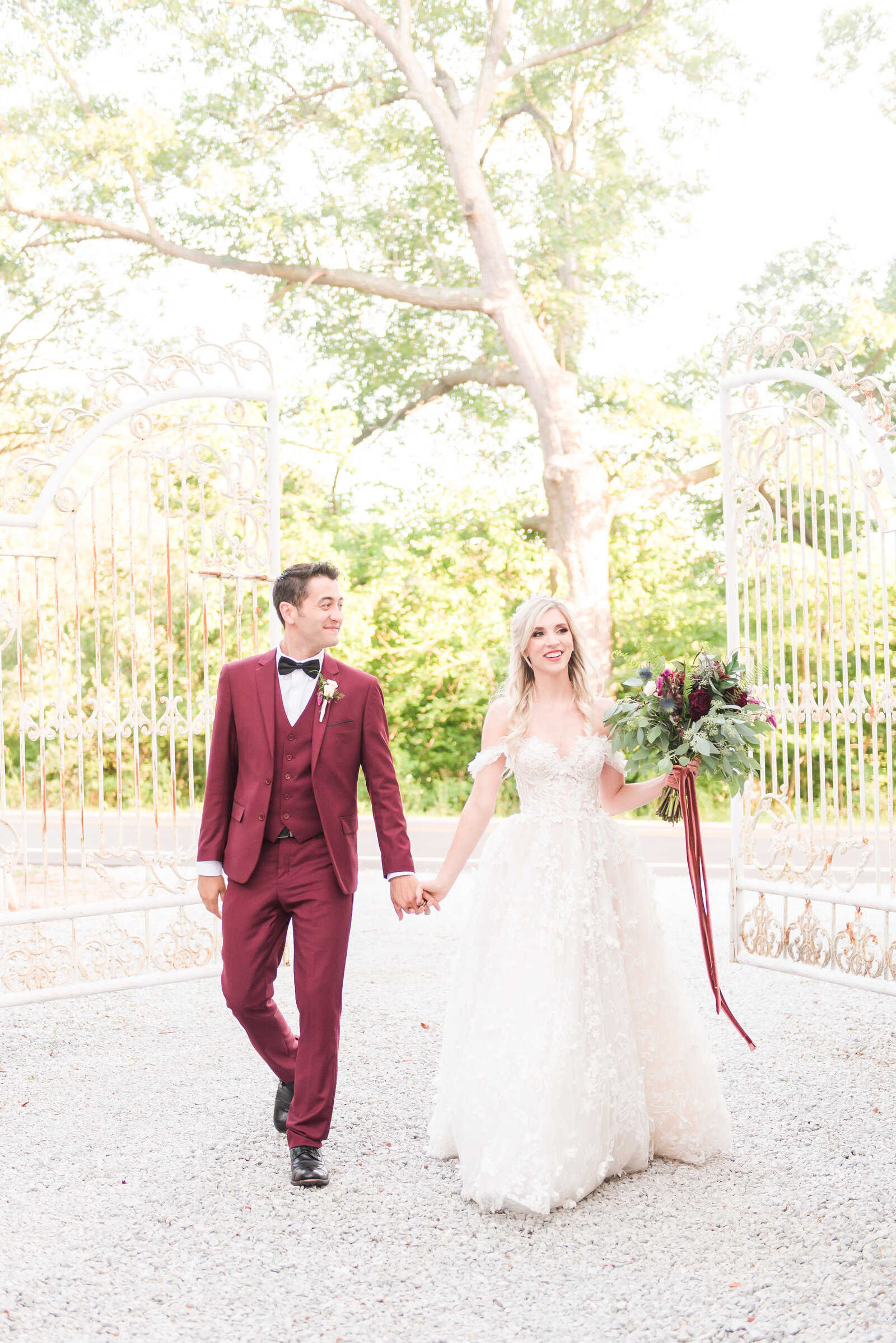 Burgundy Blue Dress Barn Wedding