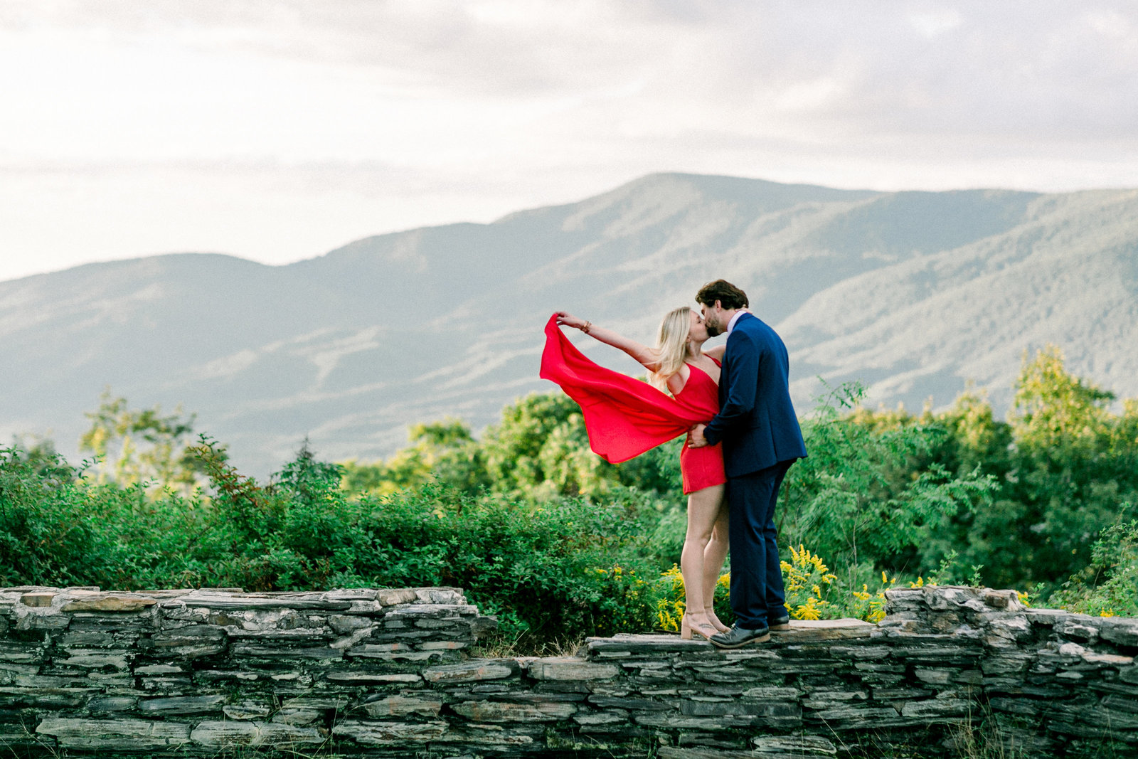 Couples portrait in the Georgia Mountains captured by Staci Addison Photography