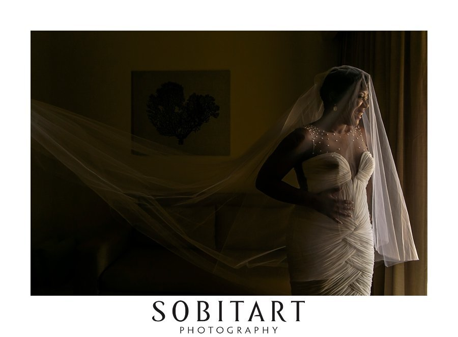 Bridal portrait for destination wedding  for ceremony at Dream Resorts Los Cabos Mexico photo by Sobitart Photography