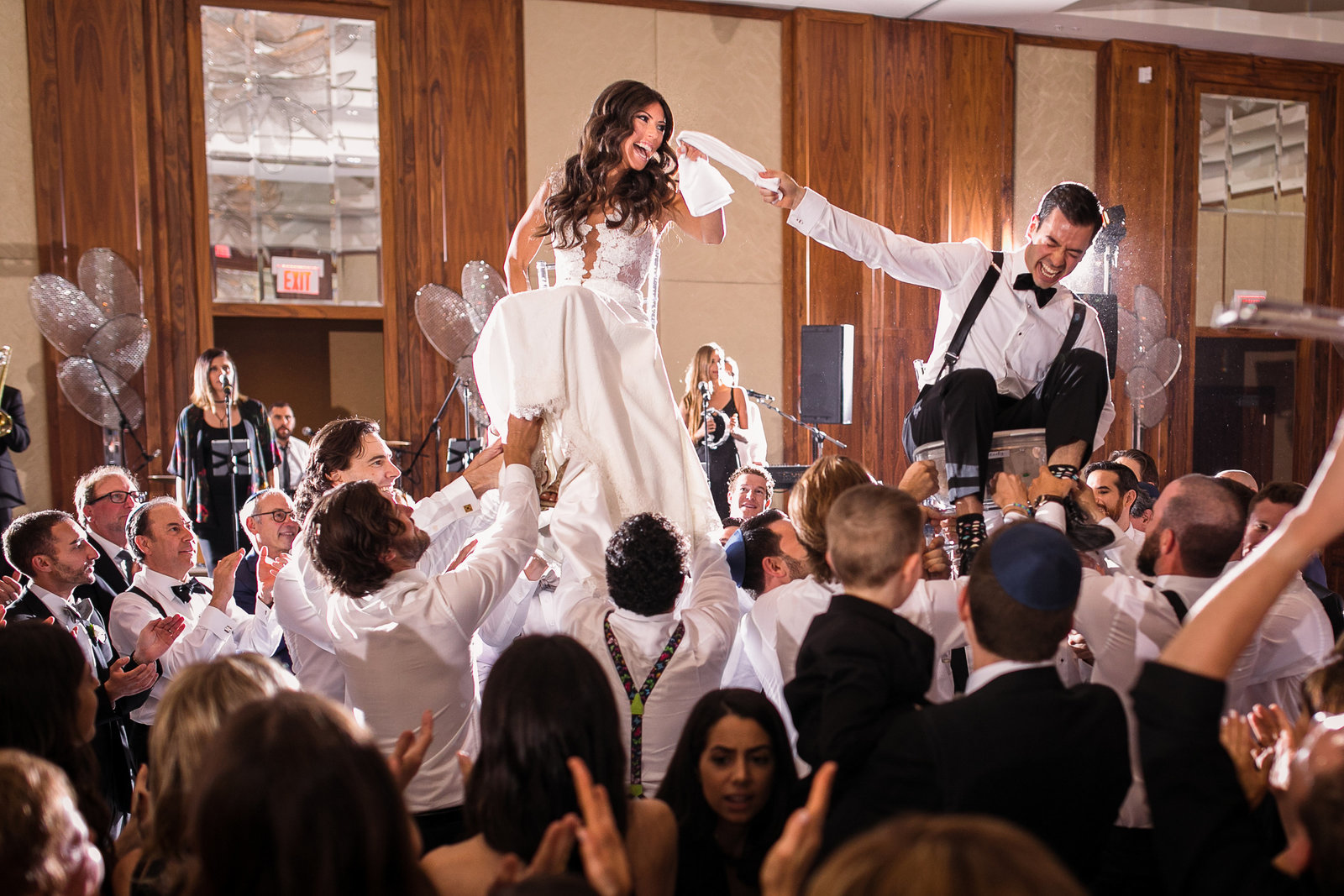 18 ritz carlton Jewish wedding reception photos hora by luminous weddings toronto photographers